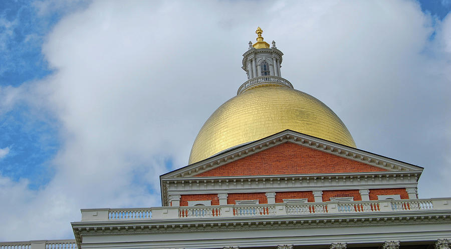 Massachusetts Photograph - Gilded Dome by JAMART Photography