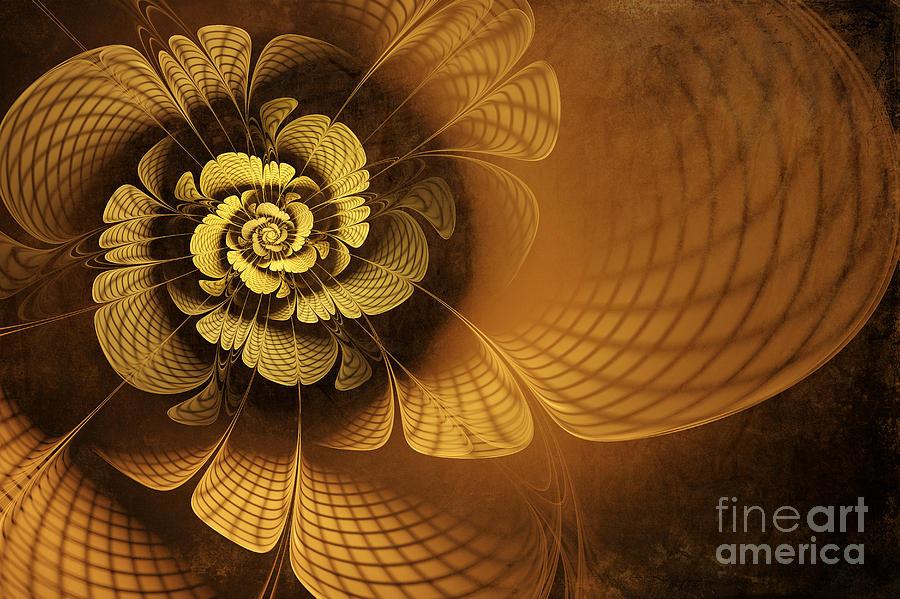 Flower Digital Art - Gilded Flower by John Edwards