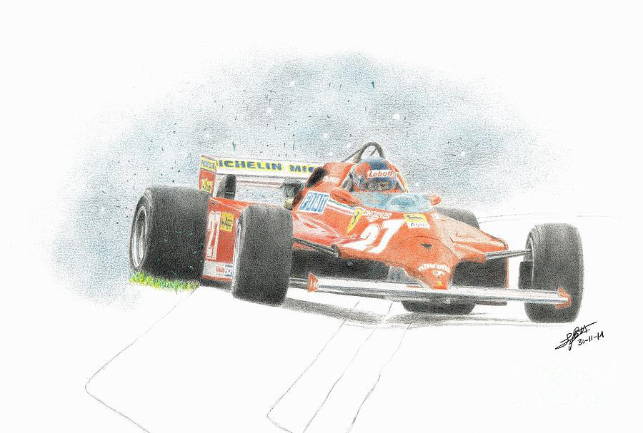 Gilles Villeneuve as usual - Ferrari by Lorenzo Benetton