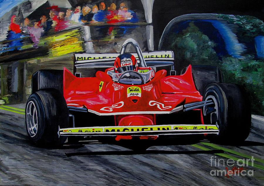 Gilles Villeneuve Painting - Gilles Villeneuve At The Limit by Jose Mendez