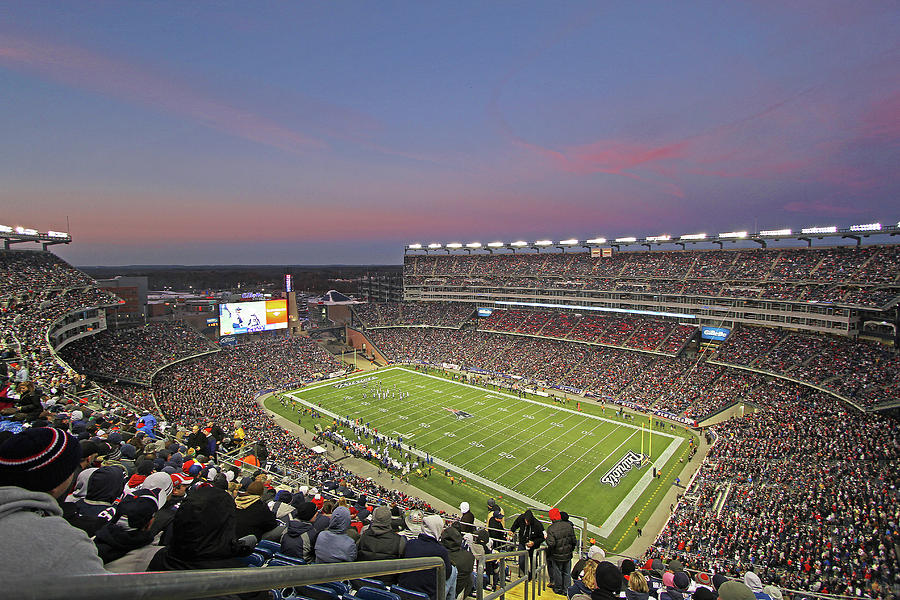 Patriots Photograph - Gillette Stadium In Foxboro  by Juergen Roth