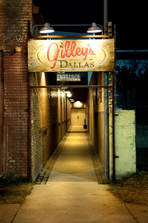 Honky Tonk Photograph - Gilleys Of Dallas At Night by Michelle Shockley