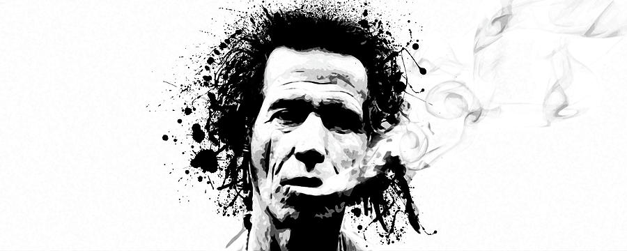 Keith Richards Digital Art - Gimme Shelter by Laurence Adamson