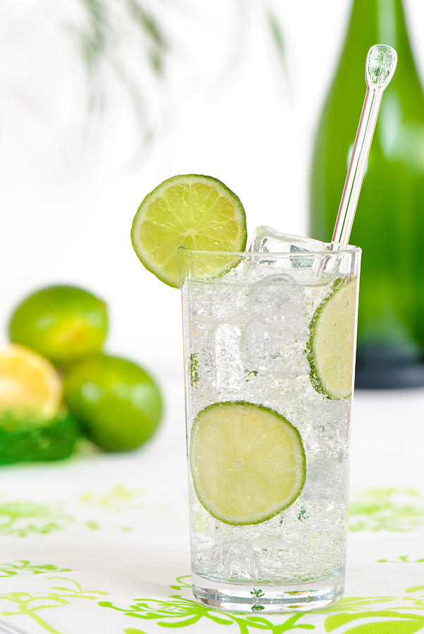 Gin & Tonic Photograph - Gin And Tonic Drink by Amanda Elwell