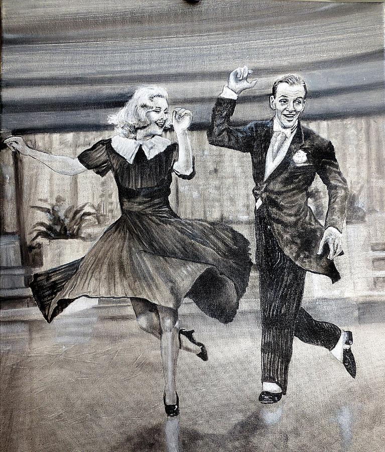 Ginger Rogers Fred Astaire Painting by Leland Castro