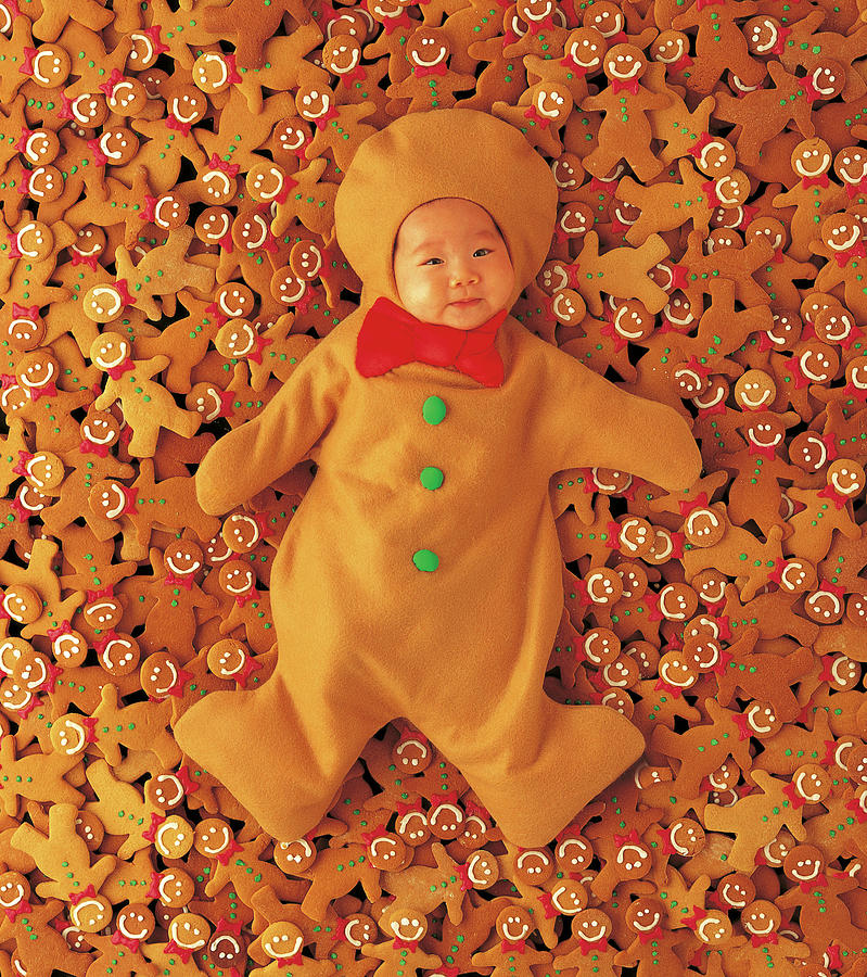 Holiday Photograph - Gingerbread Baby by Anne Geddes