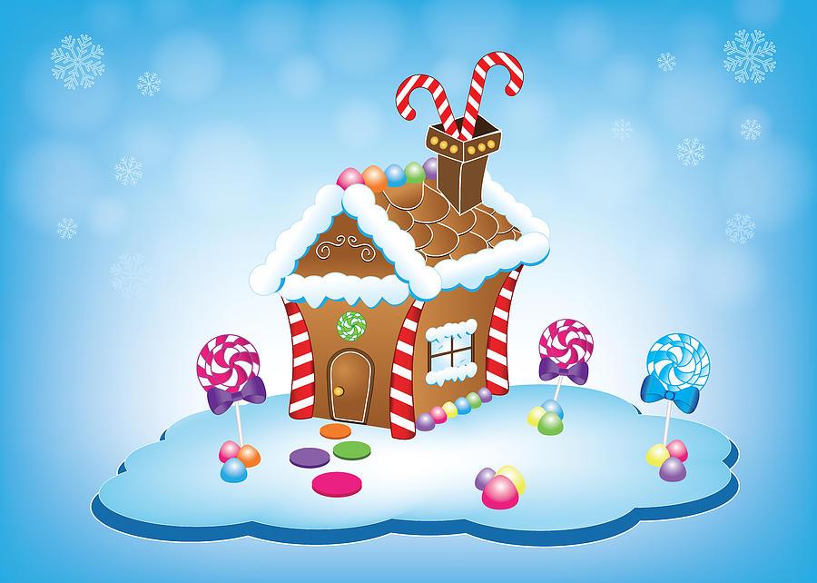 Christmas Gingerbread House Cartoon.Gingerbread House Christmas