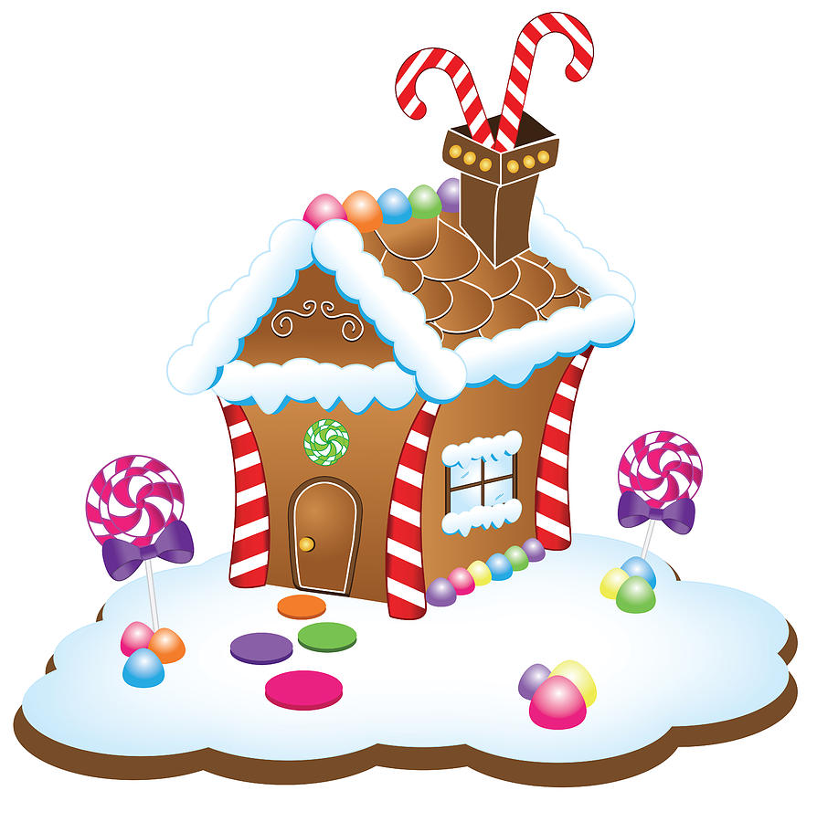 Christmas Gingerbread House Drawing.Gingerbread House