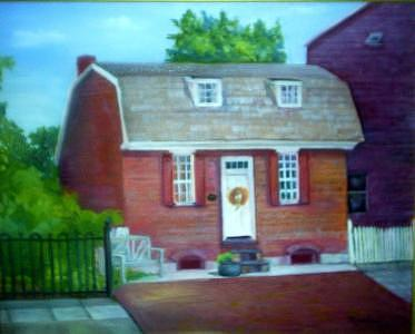 Burlington Painting - Gingerbread House by Sheila Mashaw