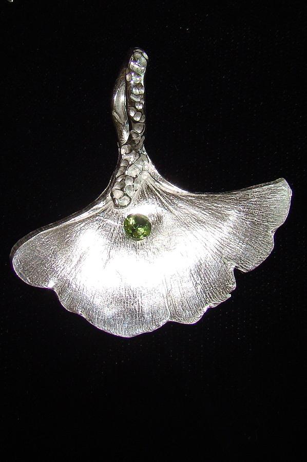 Leaf Jewelry - Ginko Pendant by Kimberly Clark - Dragonfly Studios