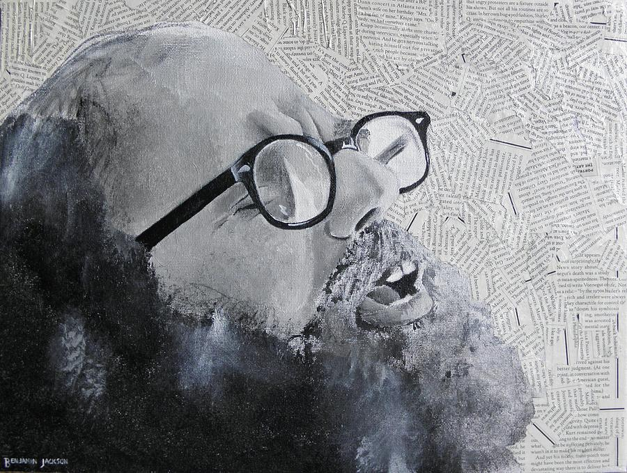 Allen Ginsberg Mixed Media - Ginsberg by Ben Jackson