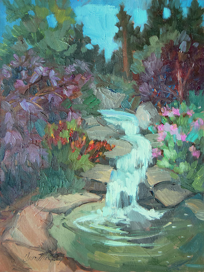 Gardens Painting - Gioeli Gardens by Diane McClary