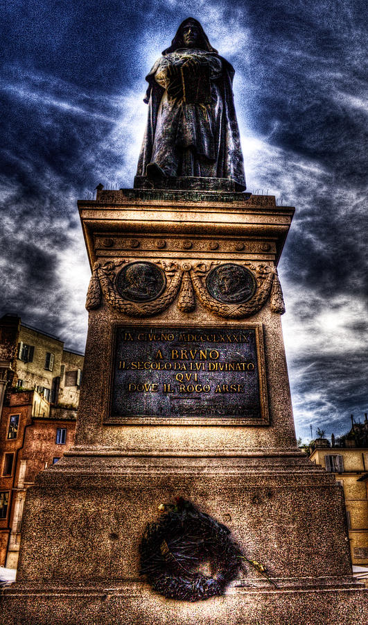 Rome Photograph - Giordano Bruno by Brian Thomson