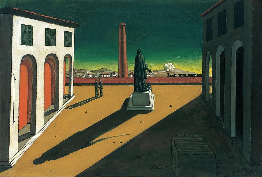 Nature Painting - Giorgio de Chirico - The Square 1913 by Giorgio de Chirico