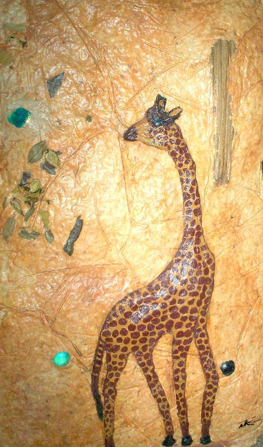 Giraffe Mixed Media - Giraffe   Sold  by Tinsu Kasai