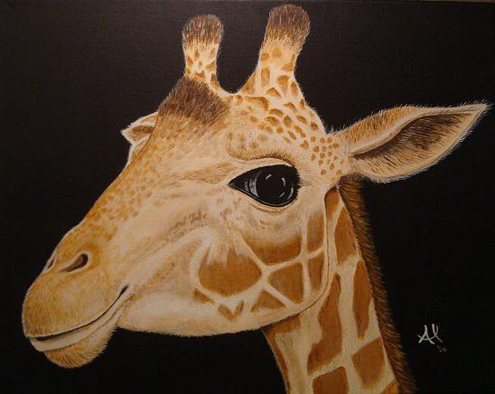 Animal Painting - Giraffe 2 by Al Borrego