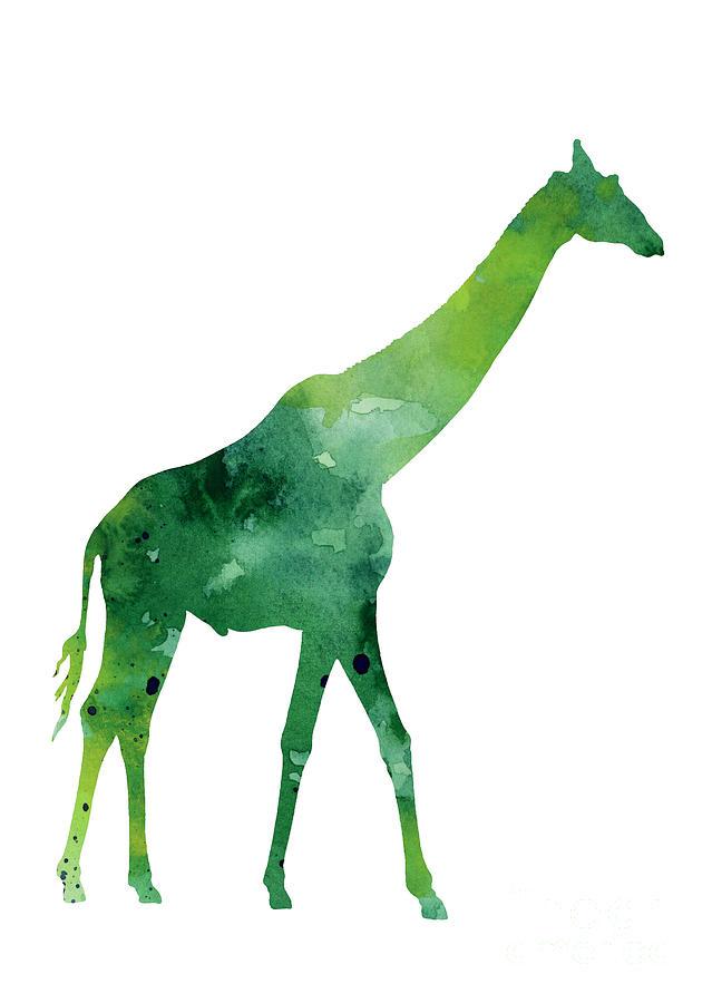 Abstract Painting - Giraffe african animals gift idea by Joanna Szmerdt