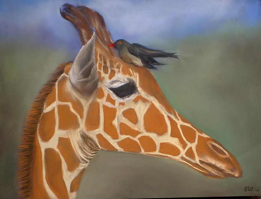 Pastel Painting - Giraffe by Dick Stolp
