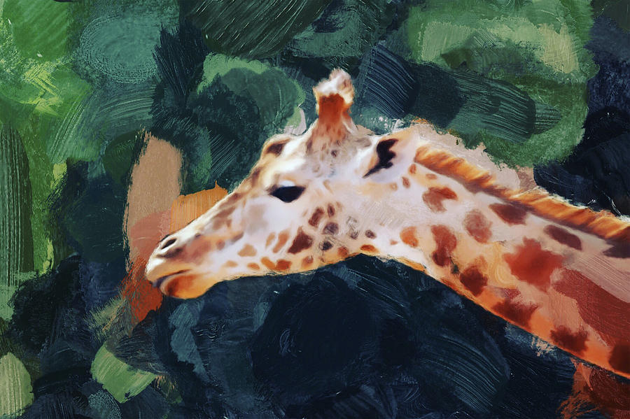 Giraffe Digital Art - Giraffe by Gillian Dernie