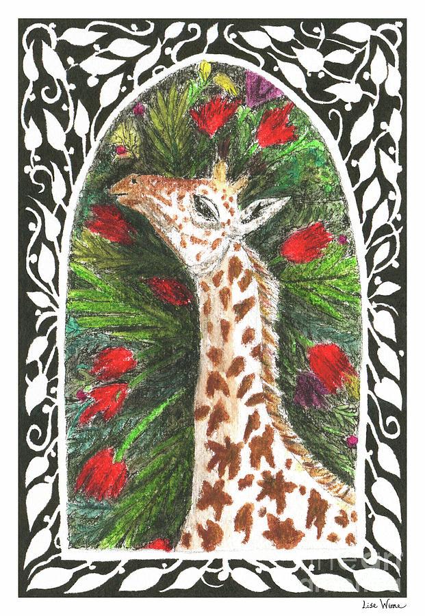 Giraffe in Archway by Lise Winne