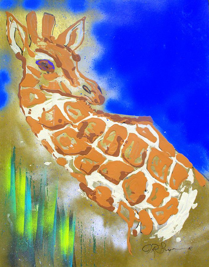 Giraffe Painting - Giraffe by J R Seymour