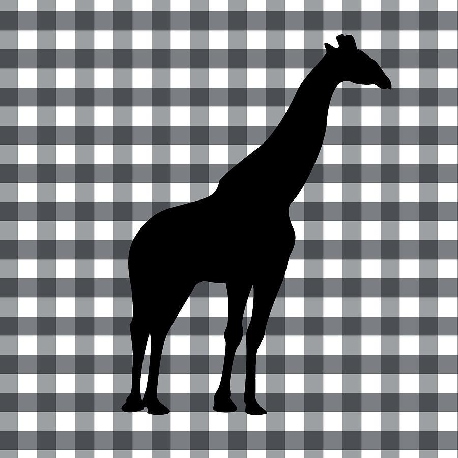 Giraffe Silhouette Digital Art