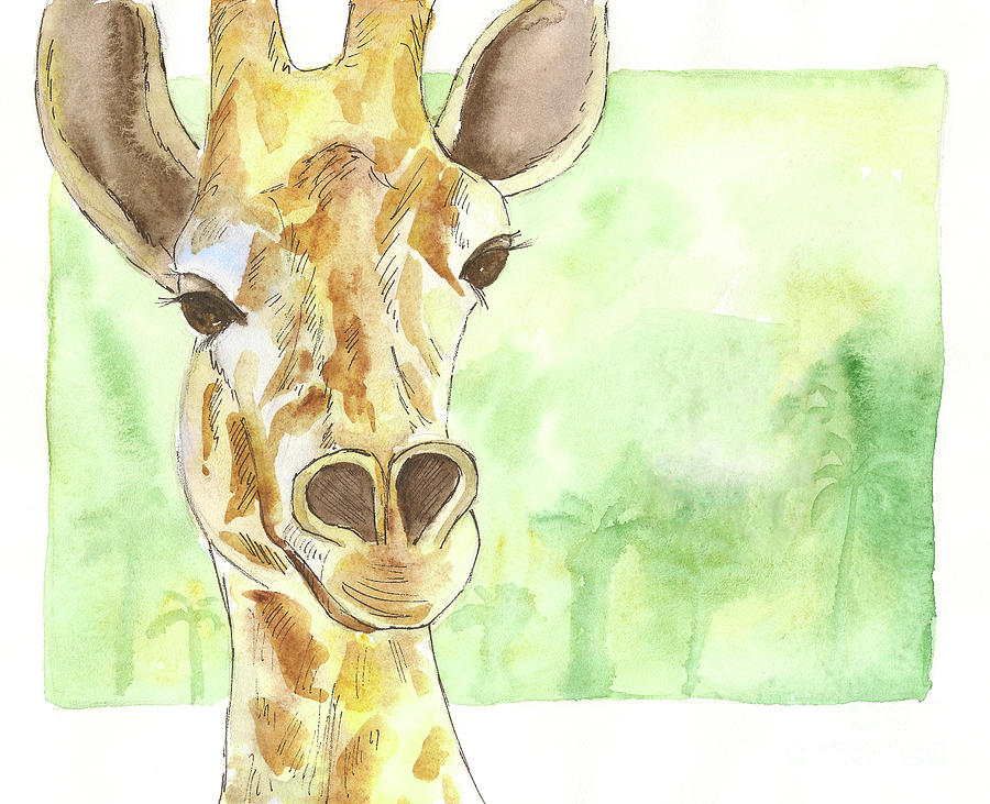 Giraffe Painting - Giraffe by Yana Sadykova