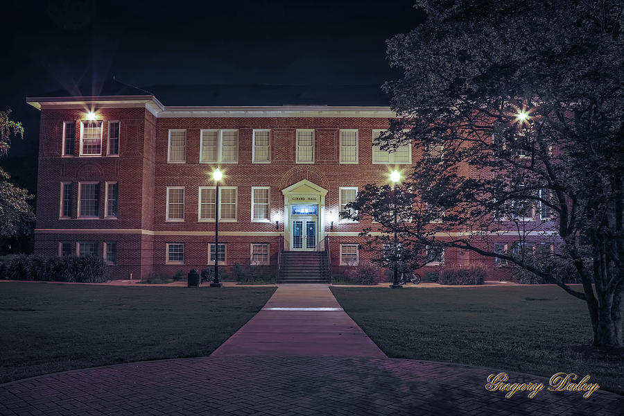 Girard Hall At Night Photograph by Gregory Daley  MPSA