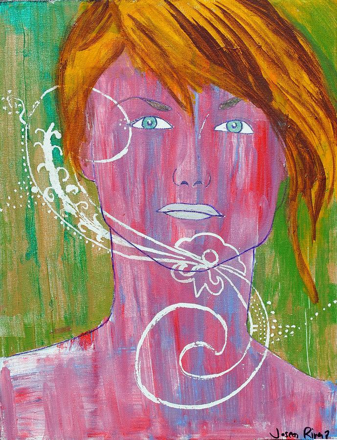 Girl Painting - Girl 13 by Josean Rivera