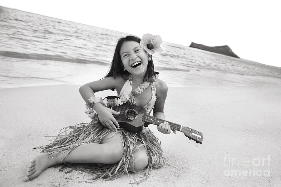 Active Photograph - Girl And Her Ukulele by Brandon Tabiolo - Printscapes