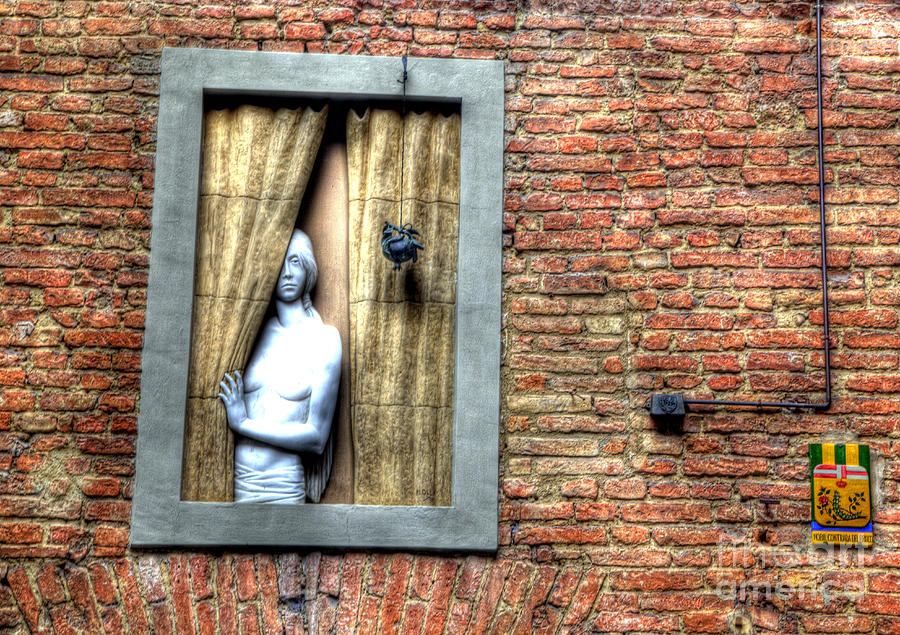 Siena Photograph - Girl At The Window by Clint Hudson