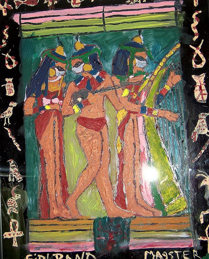 Egyptian Girl Band Glass Art - Girl Band by Maggie Cruser