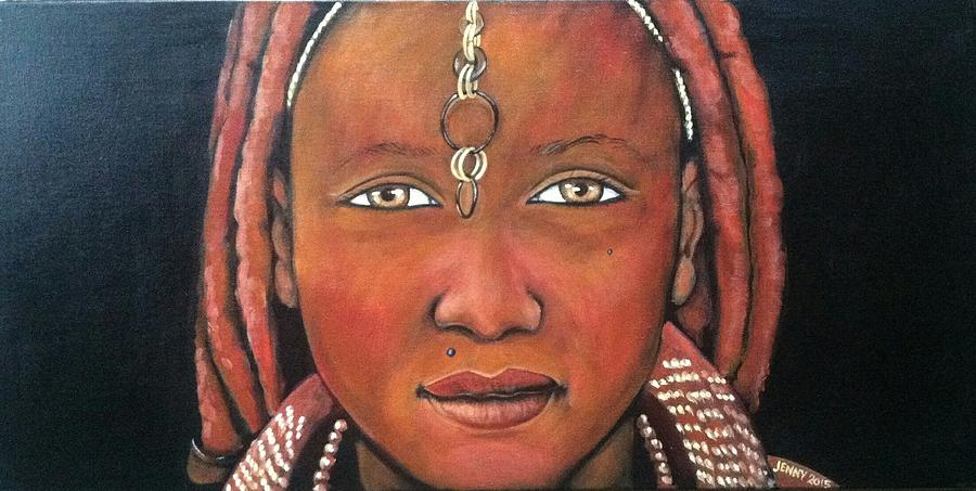 African Culture Painting - Girl From Africa by Jenny Pickens
