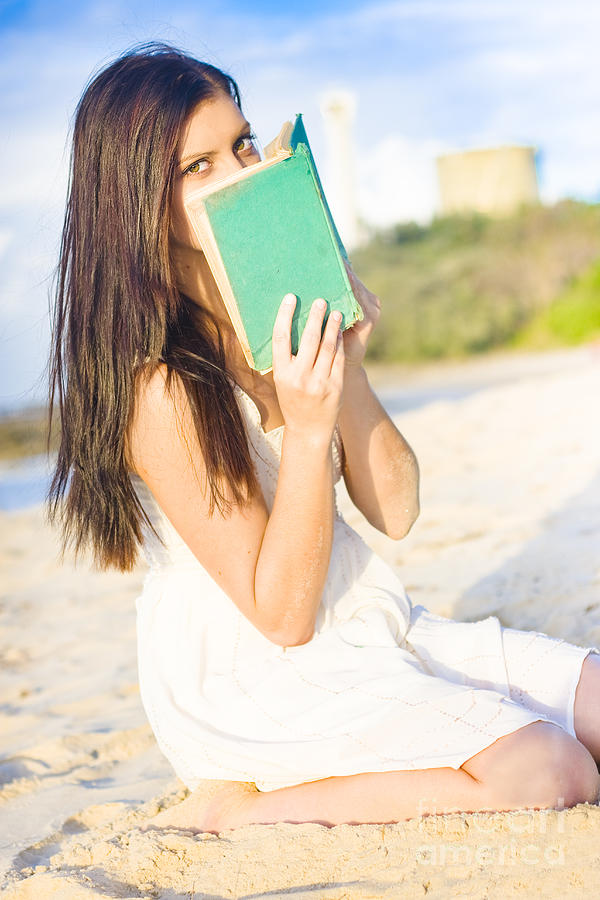Attractive Photograph - Girl Holding Book by Jorgo Photography - Wall Art Gallery