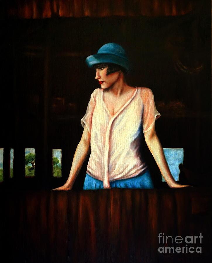 Girl In A Barn by Georgia's Art Brush