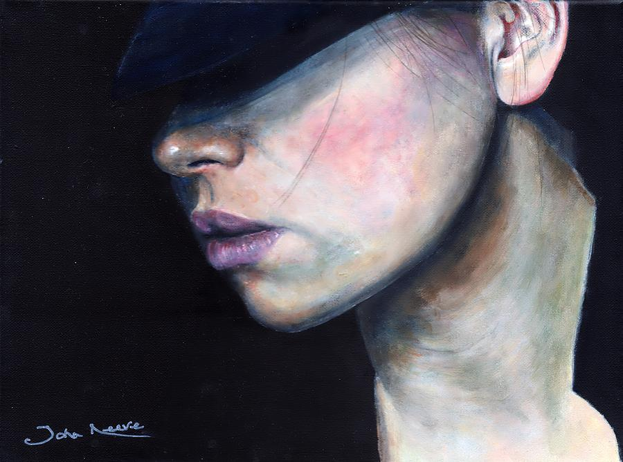 Girl in Black Hat by John Neeve