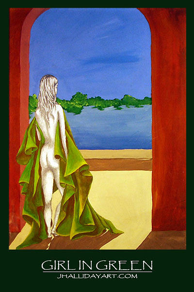Figure Painting - Girl In Green by Jennifer Halliday