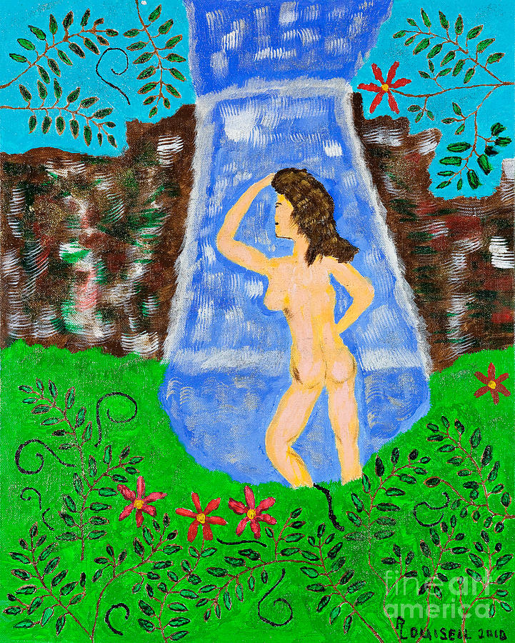 Girl Painting - Girl In The Grotto by Robyn Louisell
