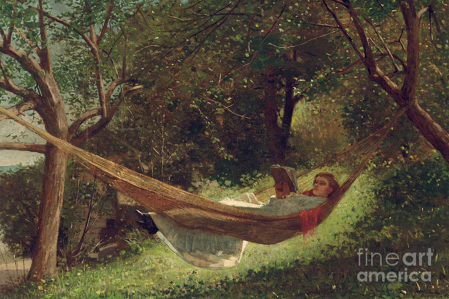 Girl In The Hammock Painting - Girl In The Hammock by Winslow Homer