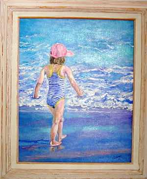 Girl Painting - Girl In The Pink Hat 2 by Laura Forst
