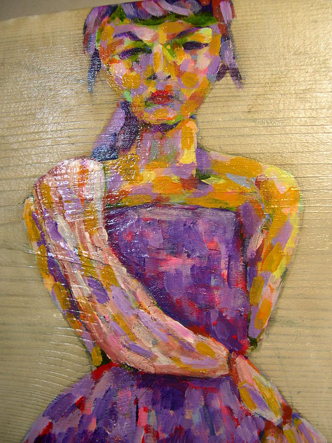 Purple Painting - Girl In The Sarong by Tara Lewis