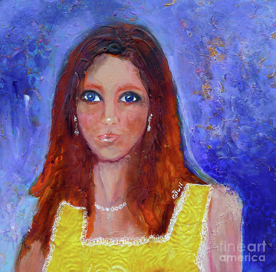 Girl Painting - Girl In Yellow Dress by Claire Bull