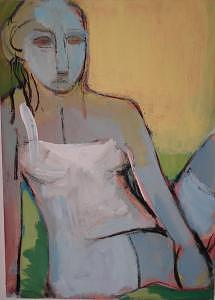 Girl Painting - Girl by Lilli  Ladewig