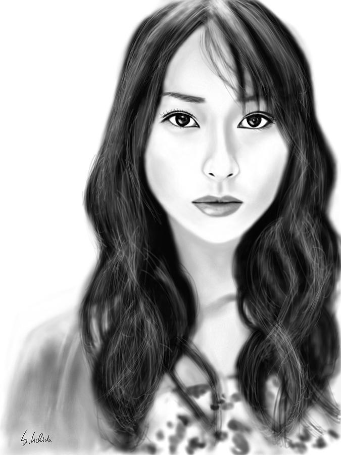 Ipad Painting - Girl No.183 by Yoshiyuki Uchida