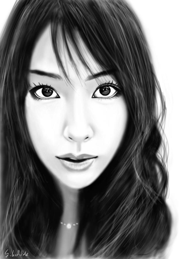Ipad Painting - Girl No.231 by Yoshiyuki Uchida