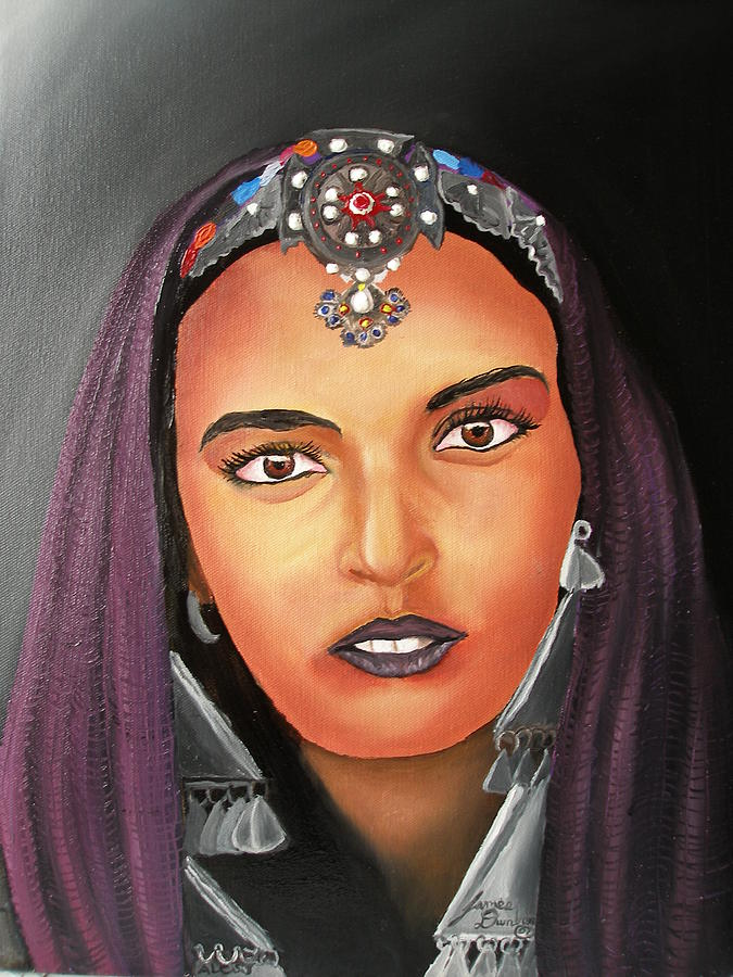 Girl Of Morocco Painting by Portland Art Creations