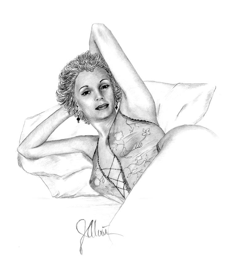 Girl On A Pillow by Joe Olivares
