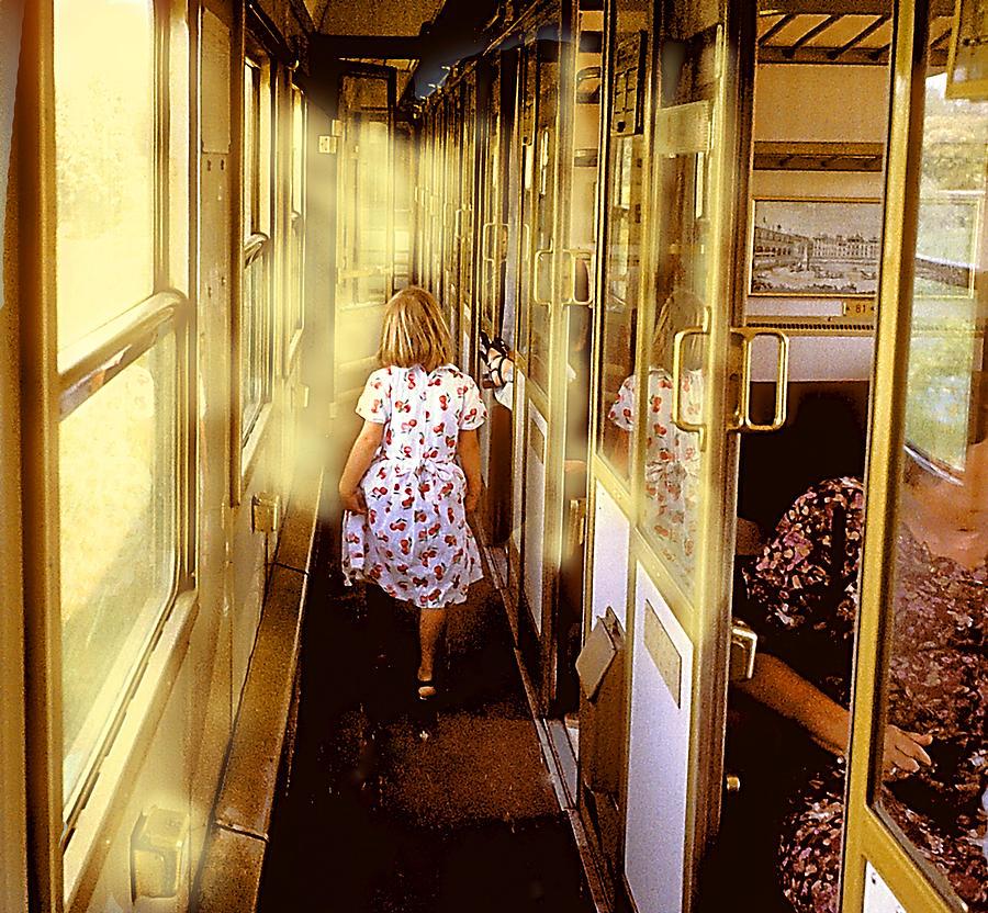 Young Girl Photograph - Girl  On Train by David Barsotti