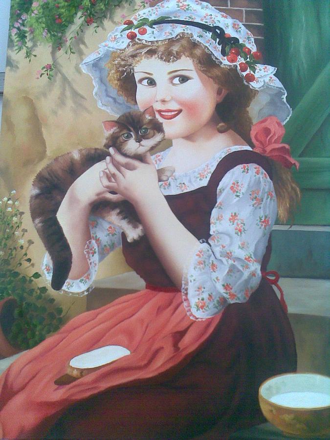 Girl Painting by Samaneh Daemi