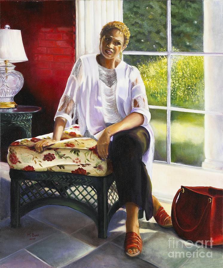 Portrait Painting - Girl Talk by Marlene Book